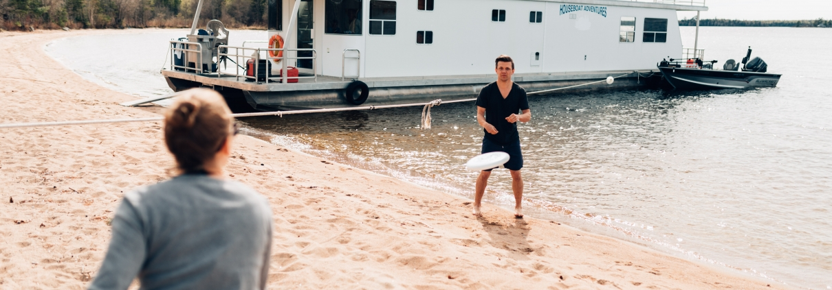 Fun beach activities on your houseboat trip