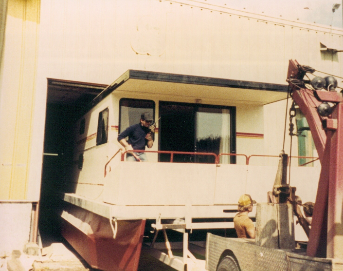 Houseboat Adventures launches 3 new 46-foot houseboats June 1986