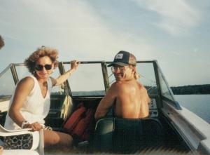 Jeff and Lorelie Gordon enjoy cruising Lake of the Woods 1989
